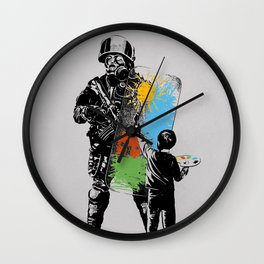 Turmoil Paint Wall Clock