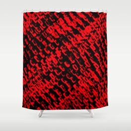 Red sublime metal pattern Shower Curtain