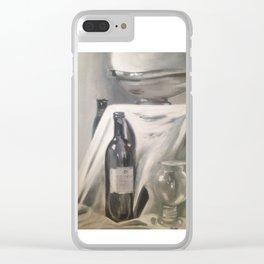 WINE BOTTLE Clear iPhone Case