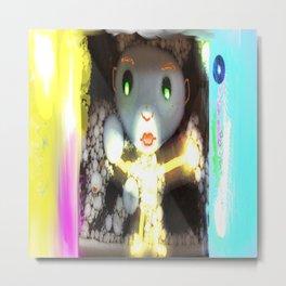 Light Beam Beam Fairy, from Mickeys Art And Design Metal Print