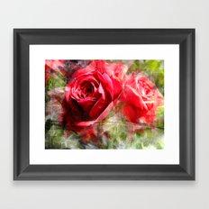 Red Roses Bouquet Framed Art Print