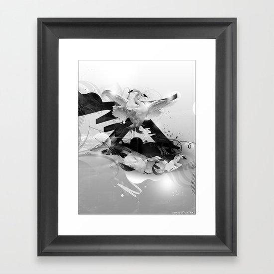 A moment of Lightness Framed Art Print