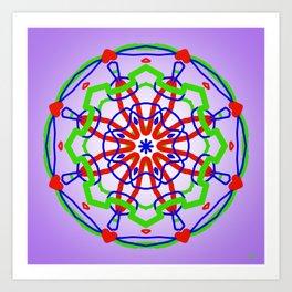 Symmetric composition 30 Art Print