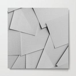 Sheets of Paper Metal Print