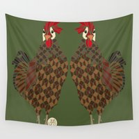 chicken Wall Tapestries featuring Chicken by ArtLovePassion