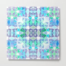 Colorful Tropical Abstract Zenspire Geometrical Pattern 3 Metal Print