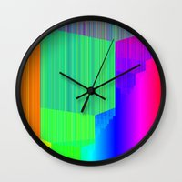 pivot Wall Clocks featuring R Experiment 5 (quicksort v3) by X's gallery