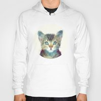 dude Hoodies featuring Cat // Aware by Amy Hamilton
