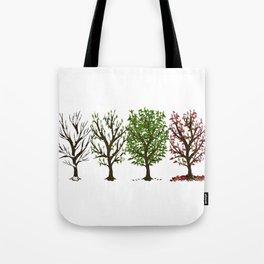 Four Seasons of Trees Tote Bag
