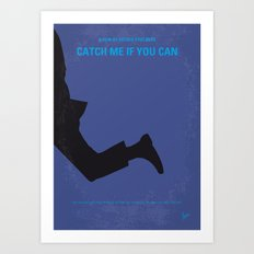 No592 My Catch Me If You Can minimal movie poster Art Print