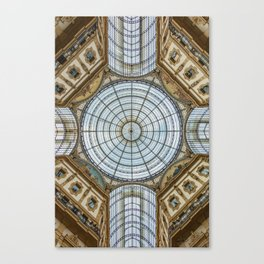 Ceiling of the Galleria Vittorio Emanuele II, Milan Canvas Print