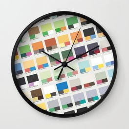 Poke-Pantone 5 (Unova Region) Wall Clock