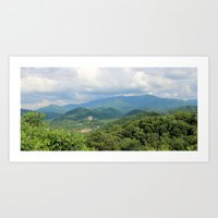Tennessee Mountains Art Print