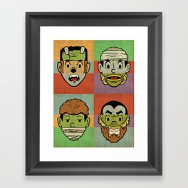 Monster Mash Framed Art Print