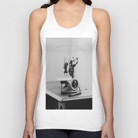 sewing Tank Tops featuring Vintage Sewing Machine by KimberosePhotography