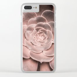 Cactus Photography Blush Pink Succulent Clear iPhone Case