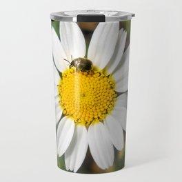 Magic Field Summer Grass - Chamomile Flower with Bug - Macro Travel Mug