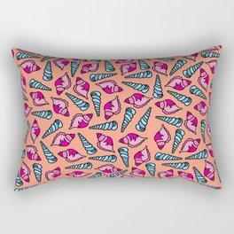 Kawaii Coral Seashells Rectangular Pillow