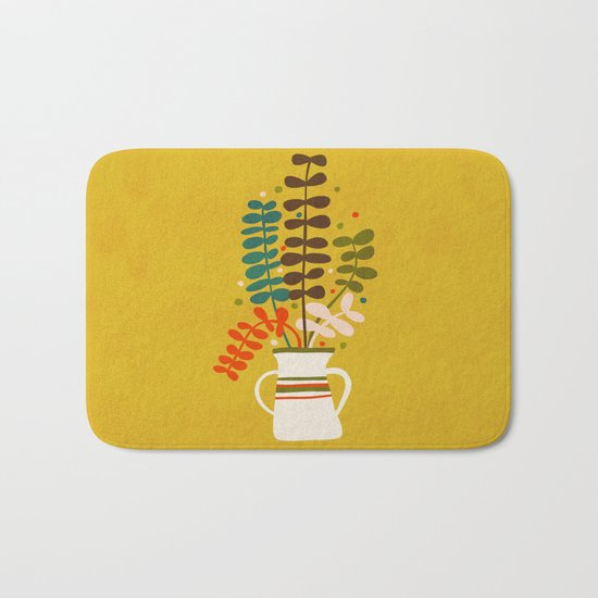 Potted Leaves Bath Mat