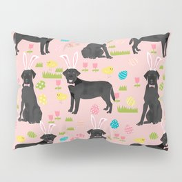 Black Lab labrador retriever dog breed pet art easter pattern costume spring Pillow Sham