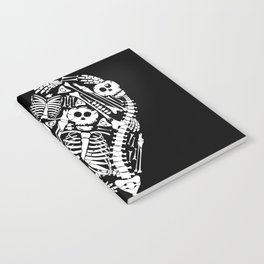 Skeletal Love Heart  (Black) Skulls and Bones Notebook