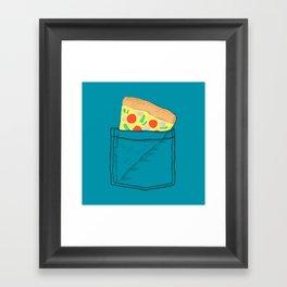 Emergency supply - pocket pizza Framed Art Print