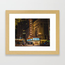 Balaban and Katz Chicago Theatre Framed Art Print