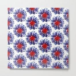 circle flower pattern Metal Print