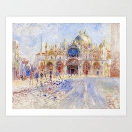 Renoir - The Piazza San Marco, Venice Art Print