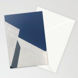 Abstract architecture against blue sky Stationery Cards