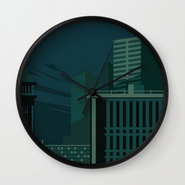 Architecture in Retro Style Wall Clock