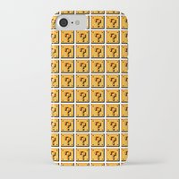 mario bros iPhone & iPod Cases featuring Collective Mario Bros. Blocks by Rebekhaart
