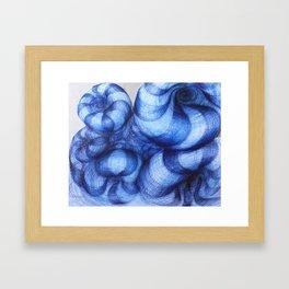 Blue Abyss Framed Art Print
