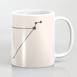 Capricorn Zodiac Constellation Charcoal Coffee Mug