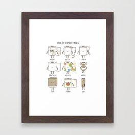 toilet paper types Framed Art Print