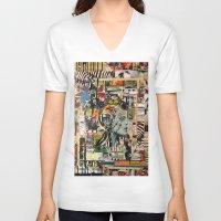 safari V-neck T-shirts featuring Safari by Katy Hirschfeld