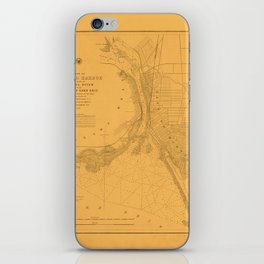 Map of Buffalo 1856 iPhone Skin