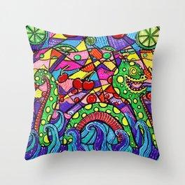 Nessie Loves Cherry Limeade Throw Pillow