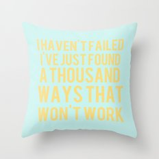 Inspirational Quote One  Throw Pillow