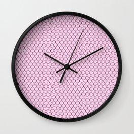 Chicken Wire Blush Wall Clock