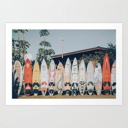 lets surf xv Art Print