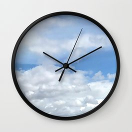 Soft Heavenly Clouds Wall Clock