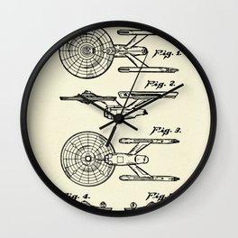 Starship Enterprise Startrek -1981 Wall Clock