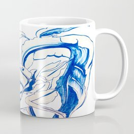 Plant in Blue Marker - Leaf of Life Miracle Leaf - Original Blue Coffee Mug