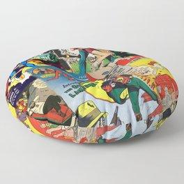 Comics Collage Floor Pillow