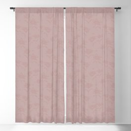Flowers and ladybirds Block print - Pink Blackout Curtain