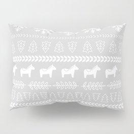 Scandinavian Christmas in Grey Pillow Sham