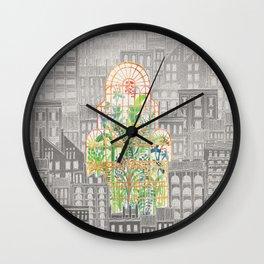 Eva City Glasshouse Wall Clock