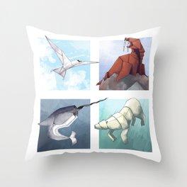 Arctic Origami Throw Pillow