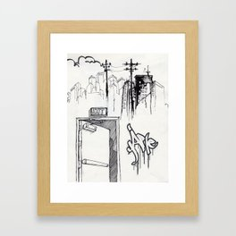EXIT SERIES 1 Framed Art Print